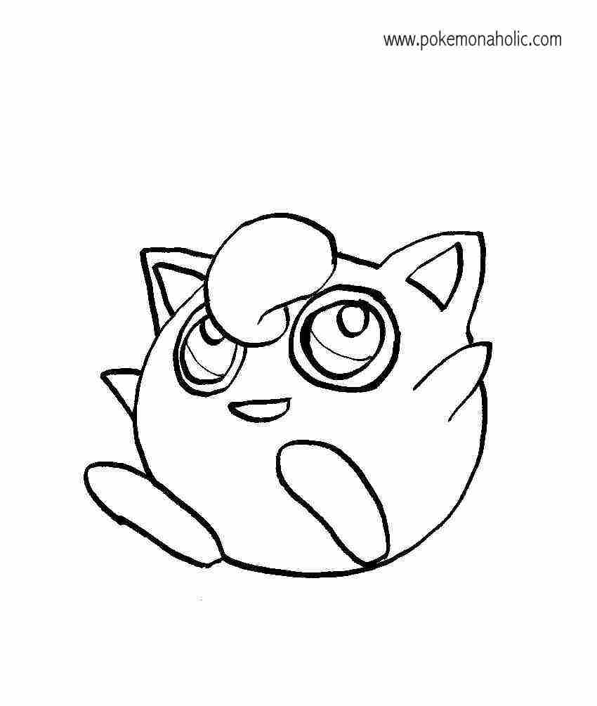 Free Coloring Pages Of Pokemon Jigglypuff Jigglypuff Coloring Pages